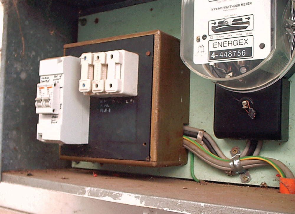 Electrical meters, cabinet, boxes